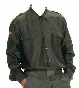 Bundeswehr Feldhemd oliv Langarm 49/50 (BW Gr. 8)