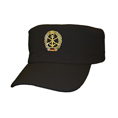 Bundesmarine Marine Bundeswehr Deutschland Kopfbedeckung Eichenlaub Anker – Kappe Schwarz #10858