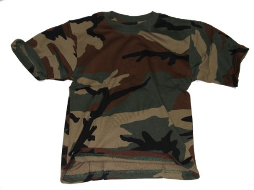 Kinder Army Style T-Shirt verschiedene Tarn Farben Gr. 122 – 176 146/152,Woodland
