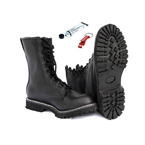 Springerstiefel + original BW Schuhpflegemittel + AOS-Outdoor® Schlüsselanhänger 43
