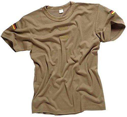 Original Bundeswehr Tropen T-Shirt Unterhemd khaki mit Hoheitsabzeichen 9,Khaki