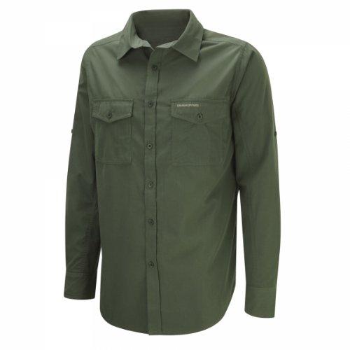Craghoppers Herren Outdoor Reise Kiwi Langarm Hemd, Cedar, L, CMS338   1TG70