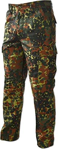 Lange Jagdhose Jägerhose aus robustem Baumwollmischgewebe in verschiedenen Farben Farbe Flecktarn Größe XL