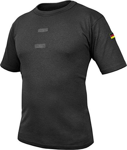 Bundeswehr Tropen T-Shirt mit Deutschlandfahnen und Klettstreifen Farbe Schwarz Größe 6