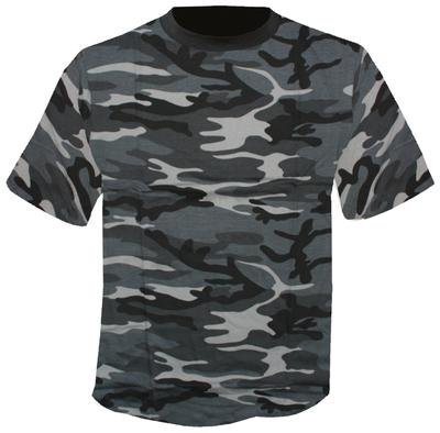 Mil-Tec T-Shirt Tarn, blackcamo (XL)