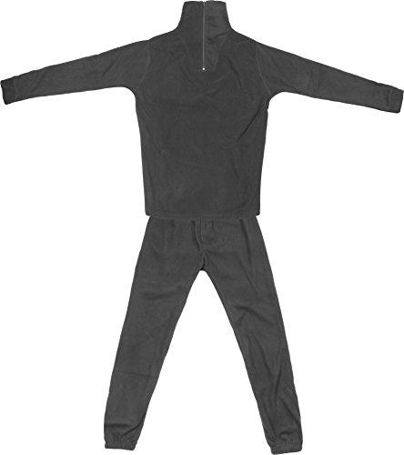 Thermofleece Unterwäsche Set mit Reißverschluss Farbe Schwarz Größe M
