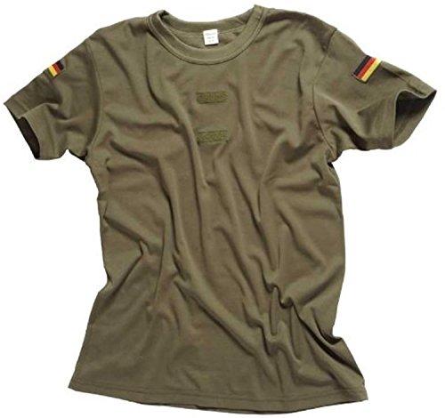 Original Bundeswehr Tropen T-Shirt Unterhemd khaki mit Hoheitsabzeichen 7,OLIV