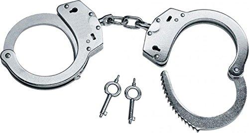 Hochwertige G8DS® Handschellen vernickelte Stahlhandfessel mit Kette mit Double-Lock Sicherung