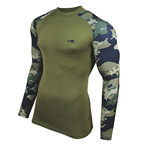 ROUGH RADICAL langarm Funktionsshirt Militär FURIOUS ARMY (M, khaki)