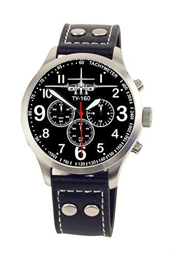 TY-160 Tupolew Aviator Chrono Armbanduhr – Sonderedition – limitierte Auflage