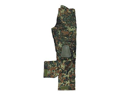 BEGADI Basics Combat Pants / Hose, mit 10 Taschen & abnehmbaren Knieschonern – flecktarn