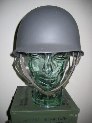 Dänischer Stahlhelm mit Innenhelm grau