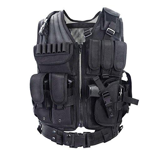 YAKEDA® Outdoor-Ausrüstung taktische Weste taktische Weste Armee Fans Feld für männliche Dschungelabenteuer Bergsteigen – VT-1063 (schwarz)