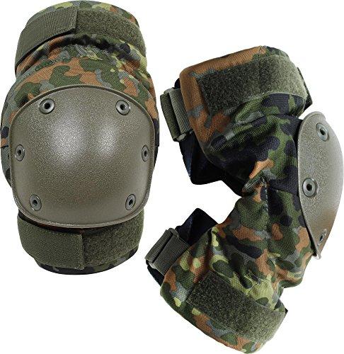Knieschützer mit weichem und dehnbarem Komfortverschluss Farbe Flecktarn
