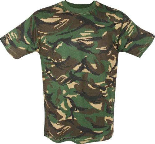 Kinder Armee-Tarnung T-Shirt Alter 11-12 Jahre 100% Baumwolle, Tarn-Bekleidung
