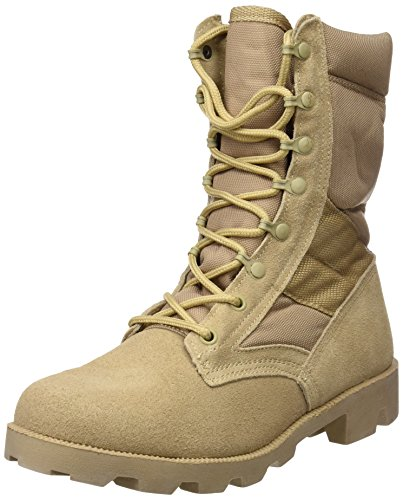 US Army Desert Combat Jungle Patrol Mens Boots Tan Suede Leather Khaki