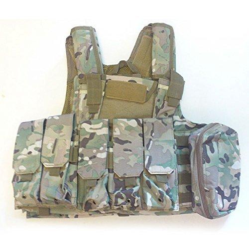 Militär Armee Schwer Pflicht MOLLE Kampf Weste / Schulung Schutz Geborgenheit Weste mit Beutel Multicam(MC) für Taktisch Jagd Airsoft Außen Camping