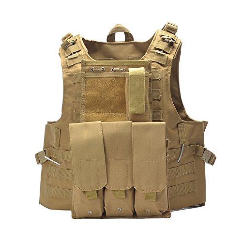YAKEDA® Polizei & militärische Lieferungen, taktische Ausrüstung, Outdoor-Ausrüstung taktische Weste Armee Fans Feld für männliche Dschungelabenteuer Bergsteigen – BU-8292 (Schlammfarbe)