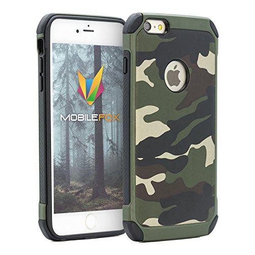 Mobilefox Camouflage Schutz-Hülle Army Case Tasche Cover Apple iPhone 6/S Grün