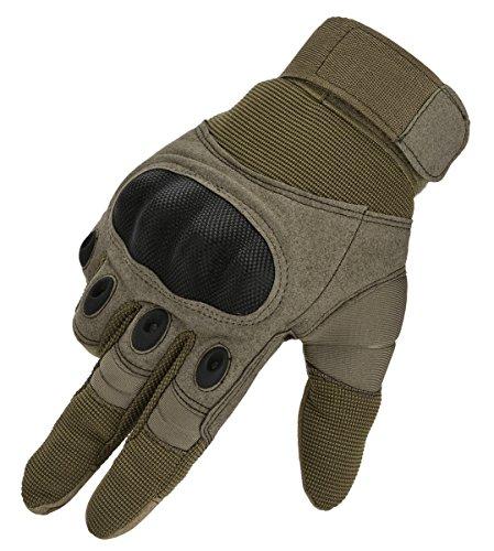 Coofit Outdoor Handschuhe Winter Sport Motorrad Handschuhe Herren Vollfinger Gloves Biking Skifahre Handschuhe (Khaki, M)