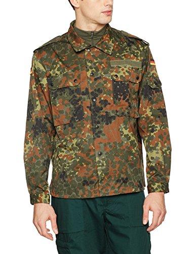 German Flecktarn Camouflage Pattern Fatigue Field Shirt (40 inch – Short (GR3))