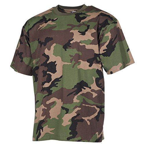 MFH US Army T-Shirt aus Baumwolle Tarnshirt Tarnmuster Kurzarm Rundhals Shirt viele Farben S-3XL (L, M 97 SK tarn)