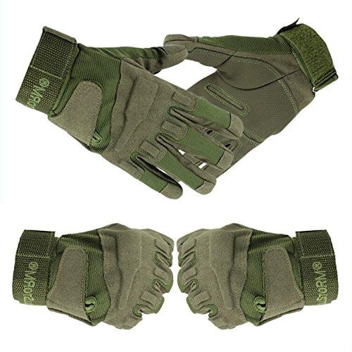 Tailcas® Vollfinger Taktik Handschuhe Gloves Atmungsaktiv Schleudern Anti-Verschleiß windundurchlässig für Motorrad Motorbike Motorcycle Fahrrad Cycling Mountainbike Fahren Schießen Sport Fitness Bergesteigen