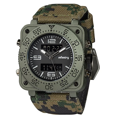 INFANTRY® Herren Analog-digital Armbanduhr Militär Armee Sportuhr Outdoor Alarm Stoppuhr