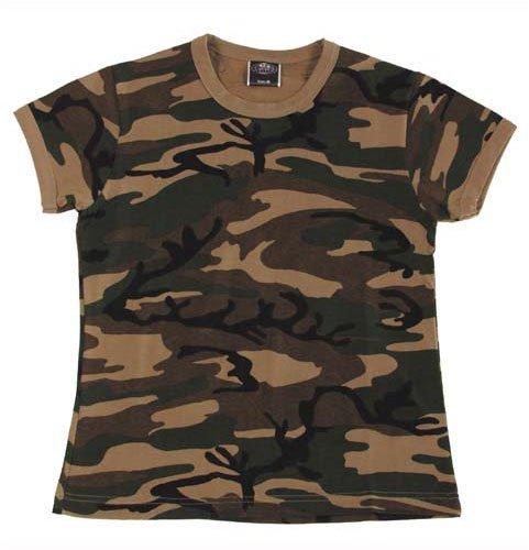US T-Shirt, Damen, woodland, Größe XL