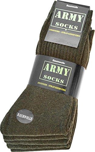 25 Paar Army Sportsocken aus strapazierfähiger Baumwolle Größe 43/46