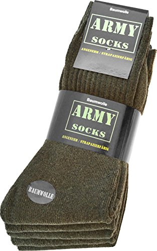 10 Paar Army-Sportsocken aus strapazierfähiger Baumwolle Größe 43/46