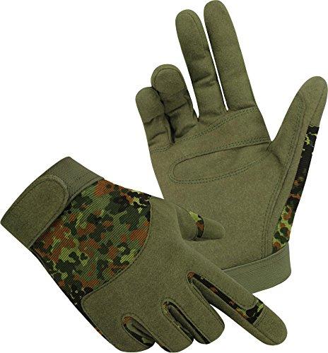 Tactical Army Gloves Herrenhandschuhe aus Spezialkunstleder Farbe Flecktarn Größe L