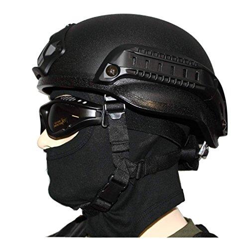 Gefechtshelm MICH 2002 W/RAIL komplett + Balaclava 1-Loch + Tactical Brille
