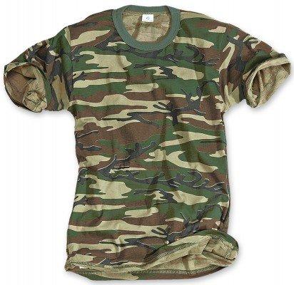 Classic Army Style T-Shirt Kurzarm Shirt 6 Farben wählbar S – 3XL L,Woodland
