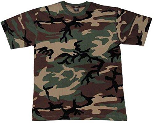 US/BW T-Shirt, klassisches Armee-T-Shirt, in 13 verschiedenen Farben zu Auswahl, in den Größen S-3XL Farbe Woodland Größe XXL