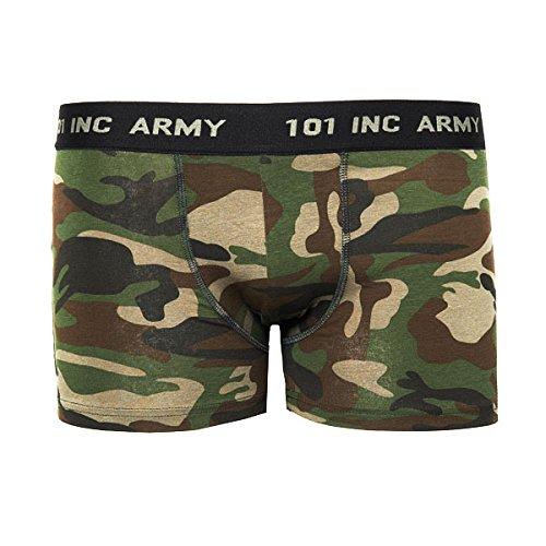 Tarn Boxershorts US Army Camo Woodland Unterhose Unterwäsche Bundeswehr Camouflage Männer Einsatz modisch Schlüpper getarnt Tarnung