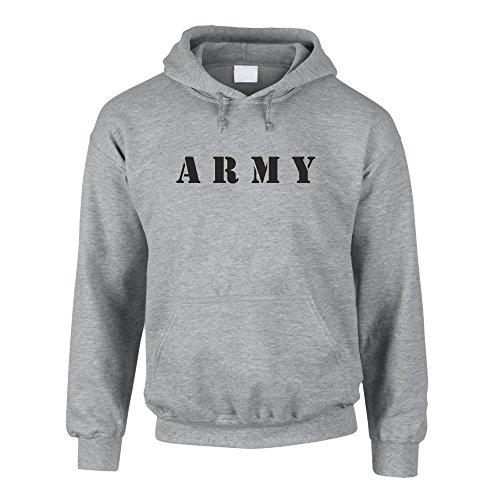 Hoodie Army Kapuzenpullover Sweater Pullover Armee Bundeswehr, grau-schwarz, M