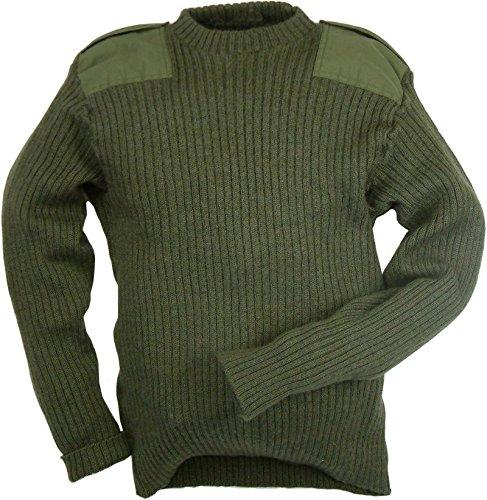 Army Surplus Echter British Army aus Wolle Pullover Pullover Oliv (100cm–101,6cm Brust) verwendet Stufe 1