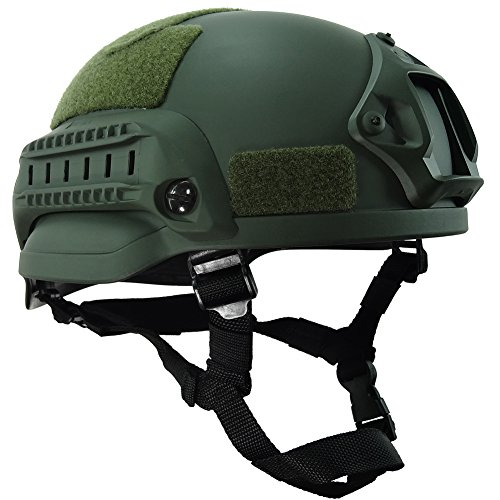 OneTigris MICH 2002 Aktion Version Taktische Helm ABS Helm für Softair Paintball (Armee Grün)