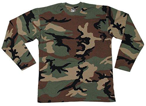 US Tarn-Shirt, langarm, woodland, 160g/m² Größe: XXXL