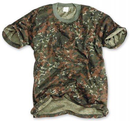 Classic Army Style T-Shirt Kurzarm Shirt 6 Farben wählbar S – 3XL M,Flecktarn