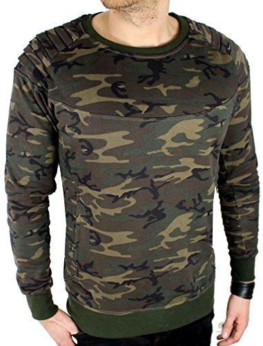 Herren Sweatshirt Pullover Camouflage Militär Armee Bundeswehr U.A Army (L)