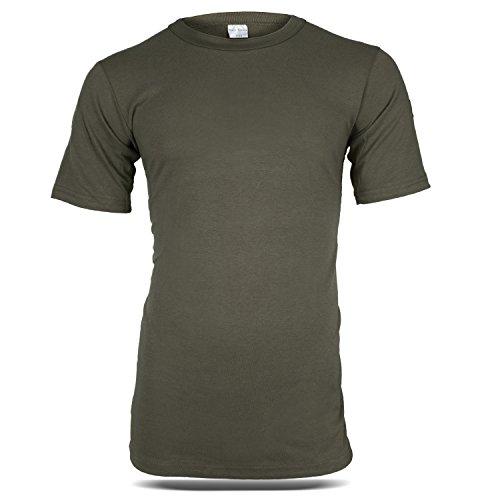 BW Tropen T-Shirt Unterhemd mit Nationalitätsabzeichen Tropenshirt Oliv M