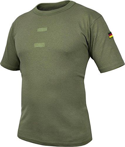 Bundeswehr Tropen T-Shirt mit Deutschlandfahnen und Klettstreifen Farbe Oliv Größe 7