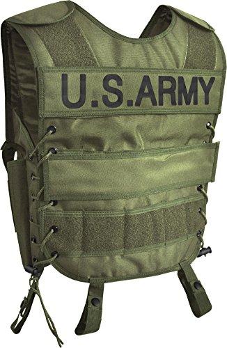 Taktische SWAT Weste mit Pistolenholster und abnehmbarem Schriftzug auf dem Rücken Farbe US ARMY Größe XS/S