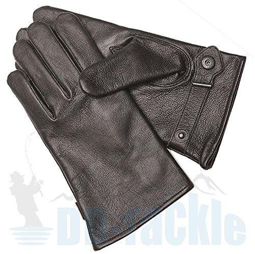 BW Ziegenleder Handschuhe Leder S-M-L-XL-XXL-3XL schwarz gefüttert Bundeswehr Fingerhandschuhe Lederfingerhandschuhe (Größe: 10 (XL), Schwarz)
